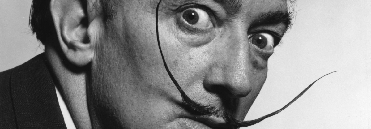 Salvador Dali and his mustache