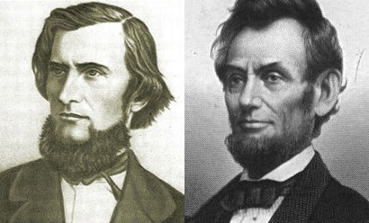 Ushinsky and Lincoln with a beard without a mustache